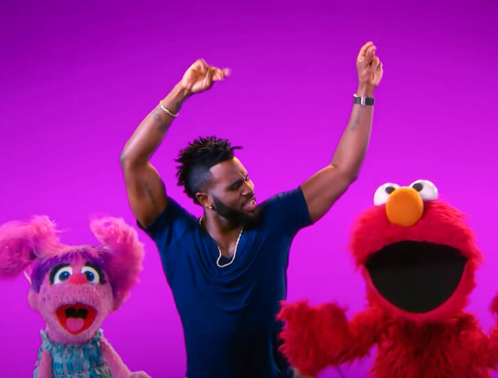 Abby, Jason Derulo and Elmo