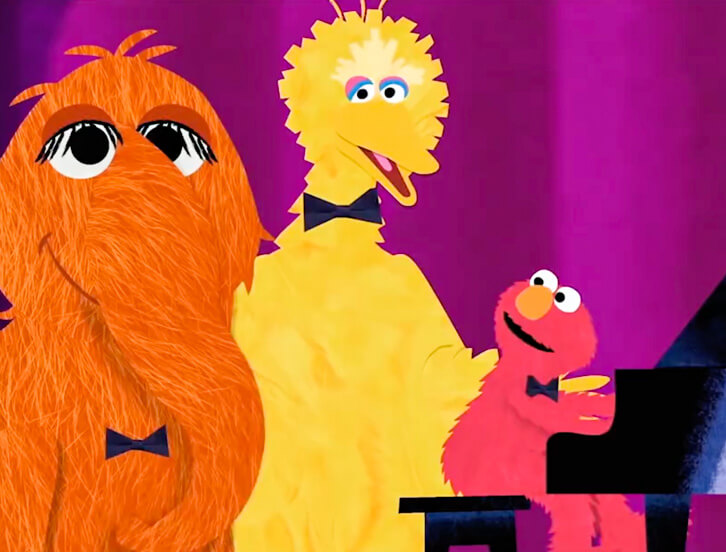 Snuffy, Big Bird and Elmo